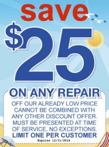 25 dollars off any plumbing repair service