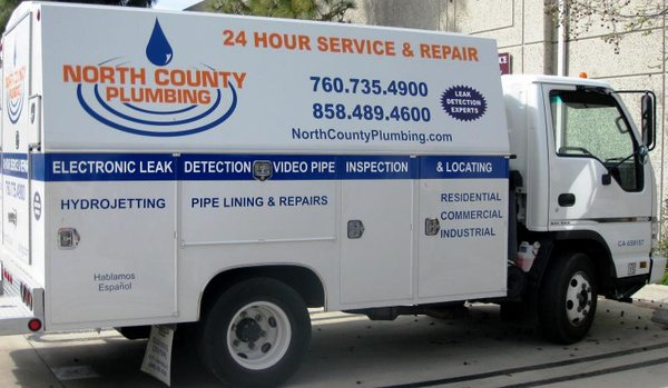 North County Plumbing Service Truck