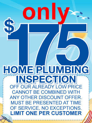 175 dollar home plumbing inspection coupon