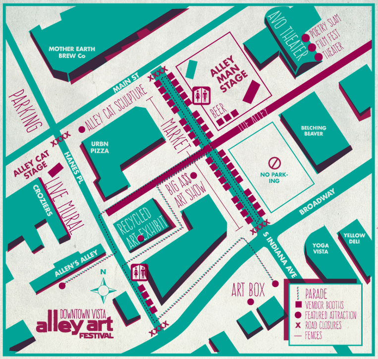 Alley Art Festival Map Vista