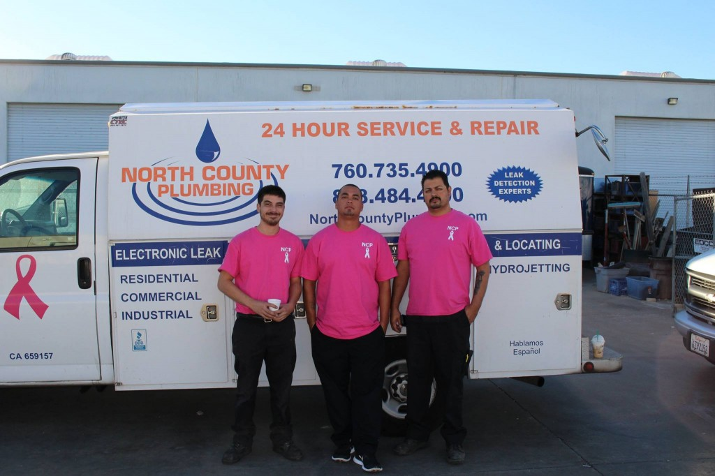 North County Plumbing Breast Cancer Awareness