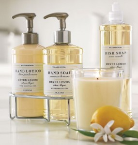 Meyer Lemon Hand soap and lotion Williams-Sonoma