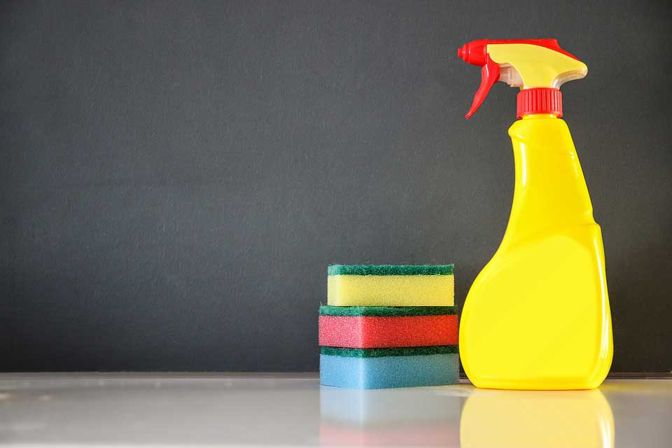 Cleaning Solution and Sponges